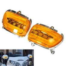 Motorcycle Front Turn Signal + LED light Blinker Case for Honda Goldwing GL1800 GL 1800 2001 2017 F6B 2013 2018