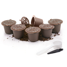 2Pcs Reusable Refillable for Nespresso Coffee Capsule With 1PC Plastic Spoon Filter Pod Filters Baskets Capsules