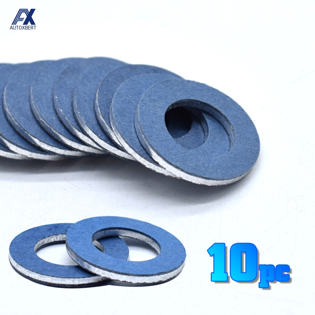 10Pcs Oil Drain Sump Plug Washers Gasket 12mm Hole For Toyota OE#90430-12031