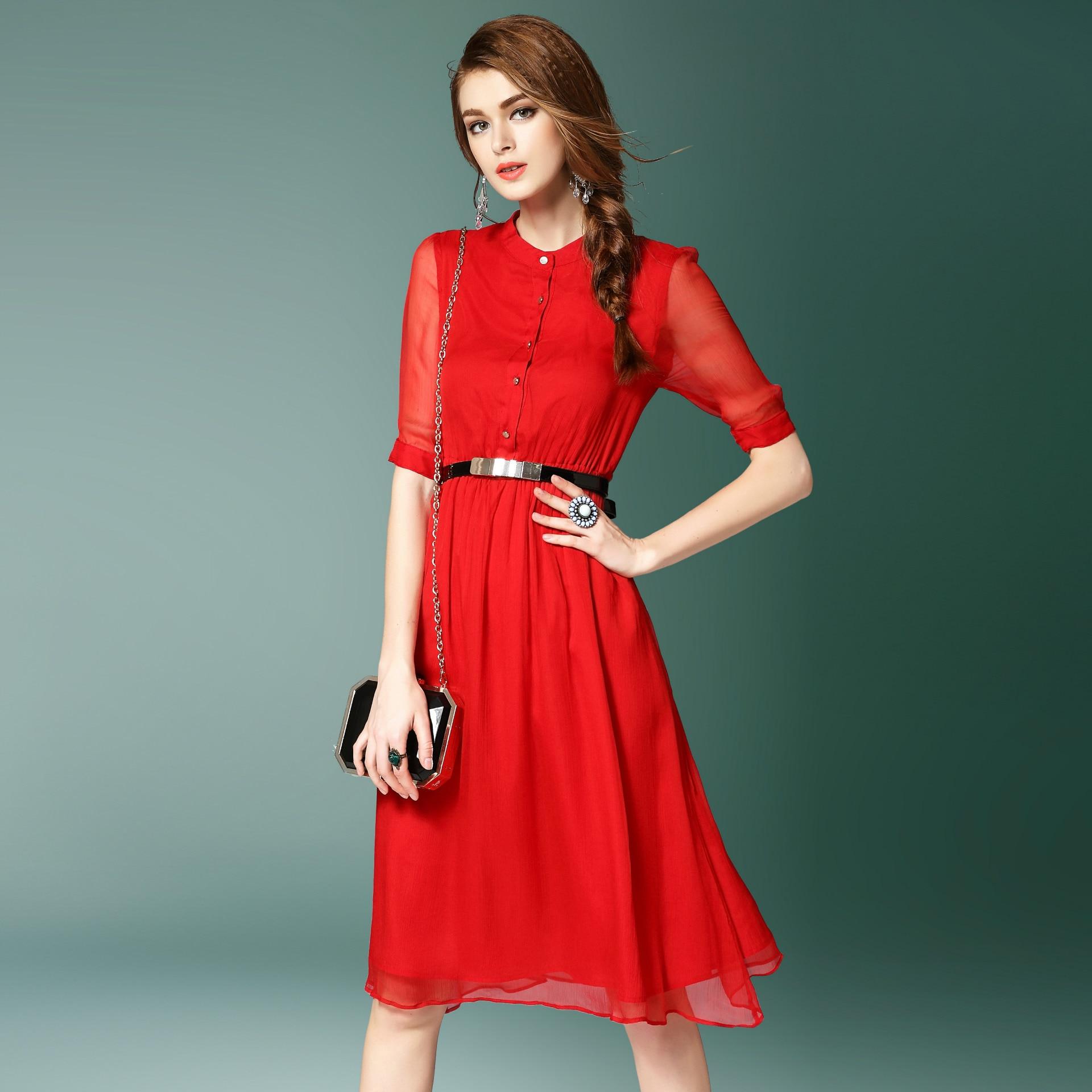 2019 automne mode design nouvelle fronde longue jupe Sen fée robe en mousseline de soie doux mince minceur robe