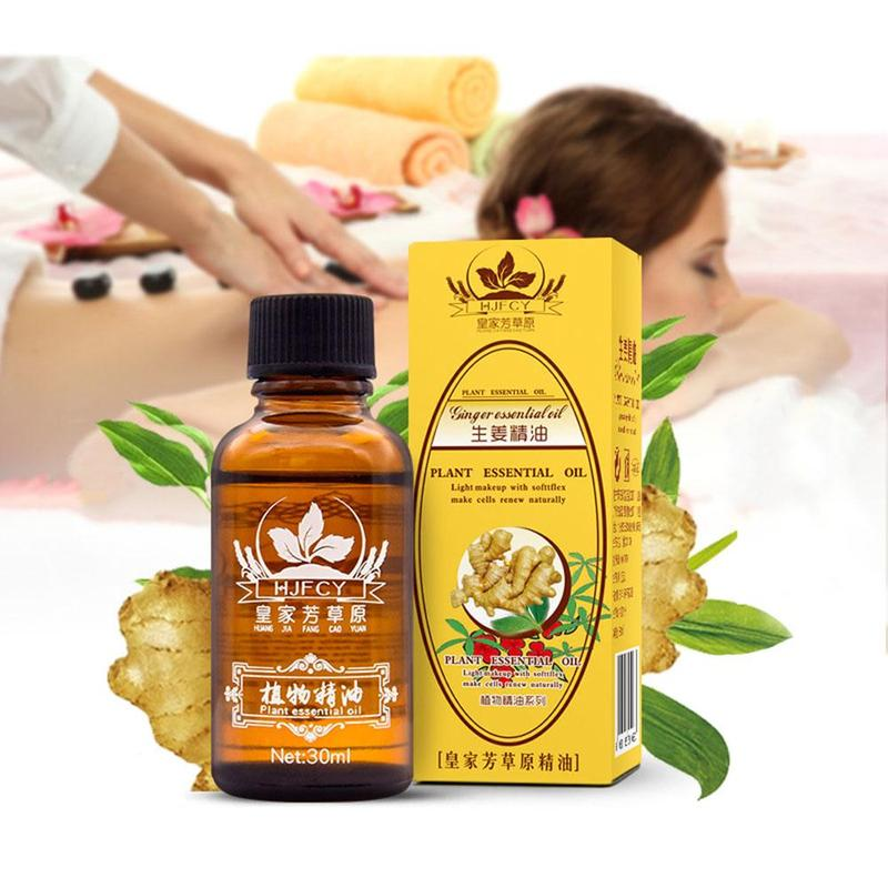 30ml Ginger Essential Oil Natural Plant Therapy Essential Oils Body Massage Oils Antiperspirant Body Care Help Sleep
