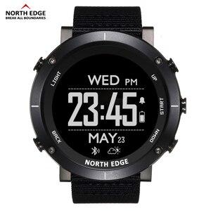 Image 2 - צפון קצה גברים ספורט דיגיטלי שעונים עמיד למים 50M שעון GPS מזג אוויר מד קצב לב טיולים שעון