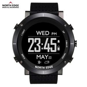 Image 2 - North Edge Men Sports Digital Watches Waterproof 50M Clock GPS Weather Altimeter Barometer Compass Heart Rate Hiking Watch