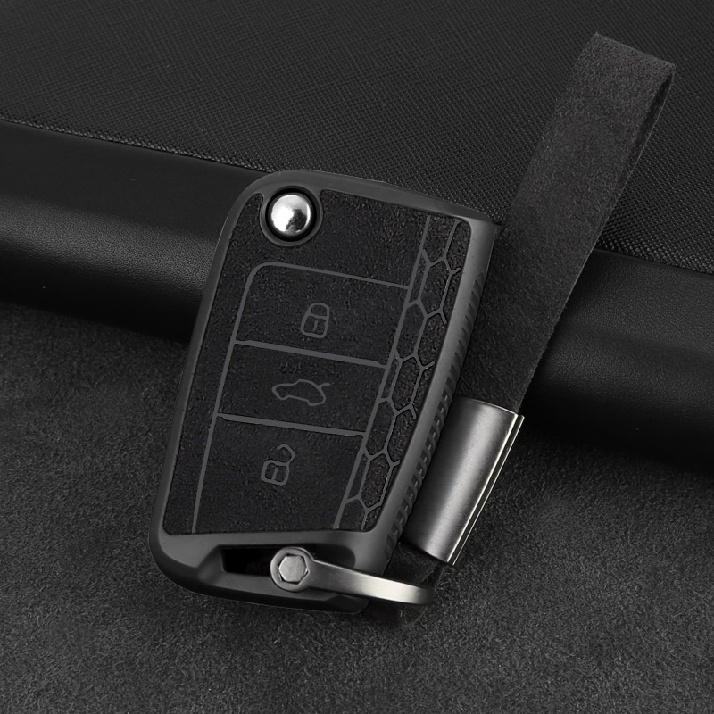 Pour Volkswagen Golf 7 MK7 Tiguan pour Skoda Octavia A7 superbe Rapid Kodiak voiture clé protecteur porte-clés porte-clés voiture clé décoration