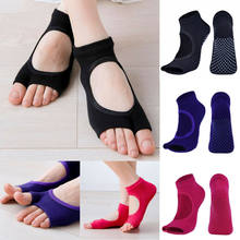 UK Gym Yoga Socken Nicht-Slip Split Toe Ankle Baumwolle Socken Massage Sox Barre Dance(China)