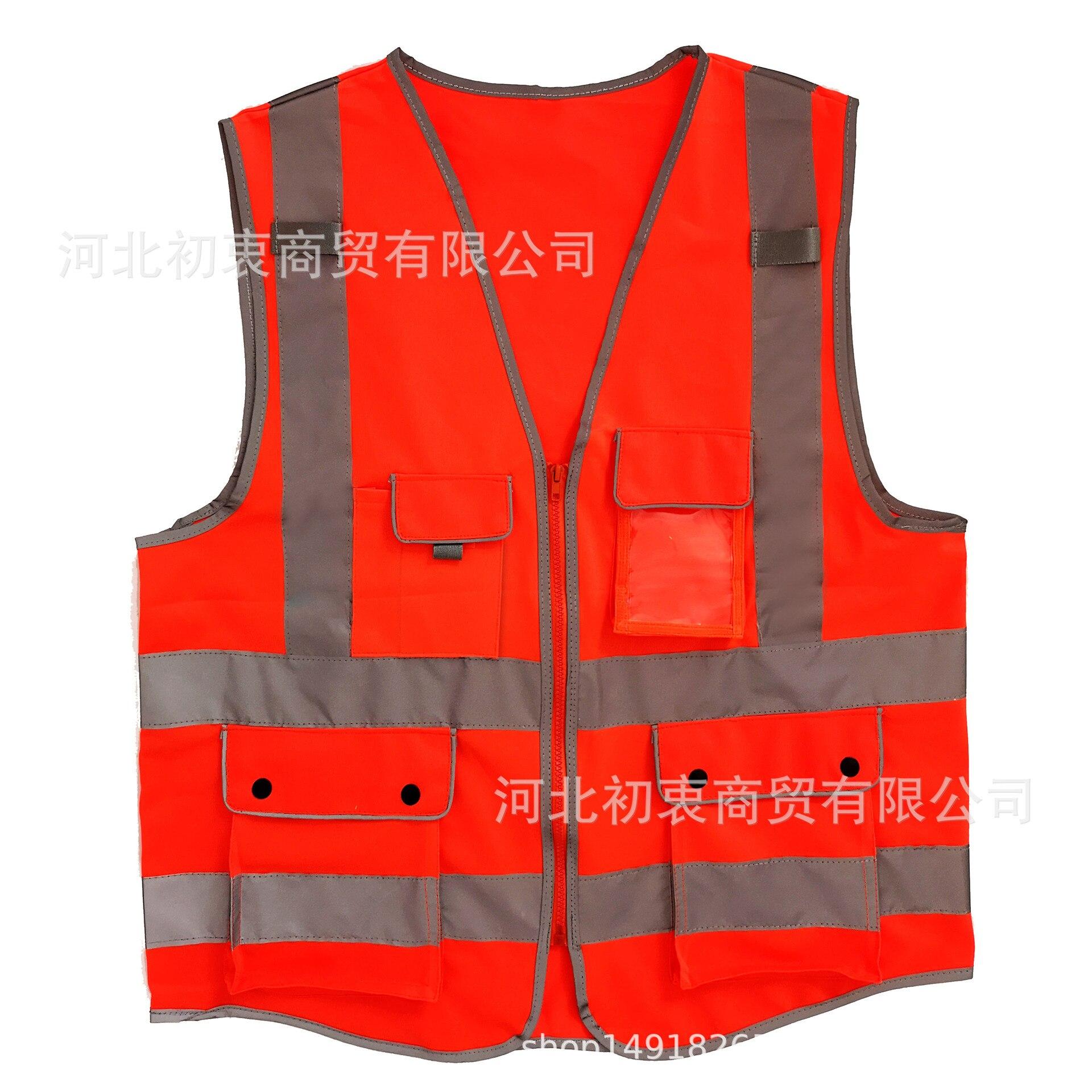 Reflective Vest Architecture Work Site Homework Safe Protection Coat Traffic Green Fluorescent Clothes Coat Reflective Waistcoat