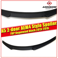 For Audi A5 2 Door Coupe Trunk Spoiler Tail Wing M4 Style FRP Unpainted sedan duckbill spoiler trunk wings Decoration 2013 2016