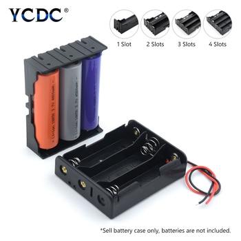 Новый 18650 Мощность банк чехол s18650 Батарея ящик для хранения чехол на возраст 1, 2, 3, 4, слот дороги Сделай Сам зажим для батарей держатель Контейнер с провод        АлиЭкспресс