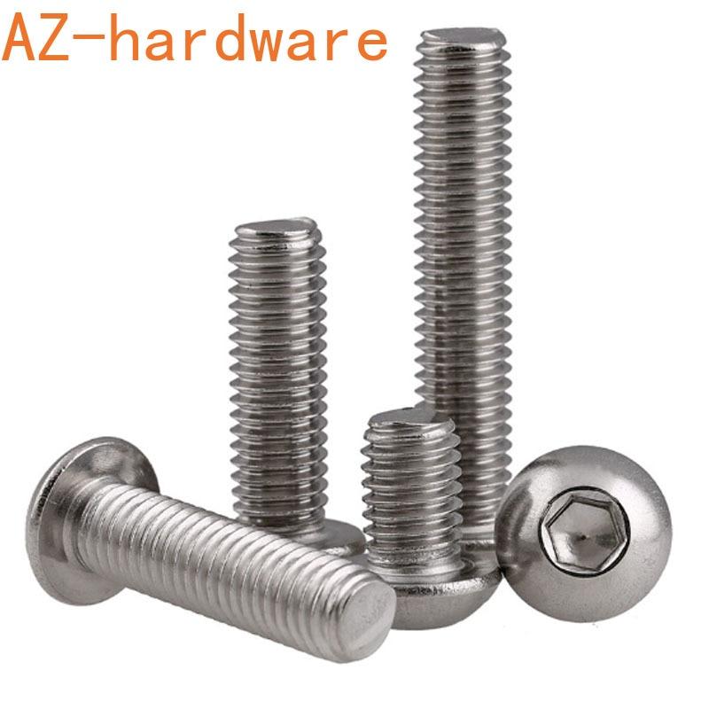Pan head hexagon socket bolt 304 Stainless steel round head hexagon socket screw 1/4-20 5/16-18 5Pcs