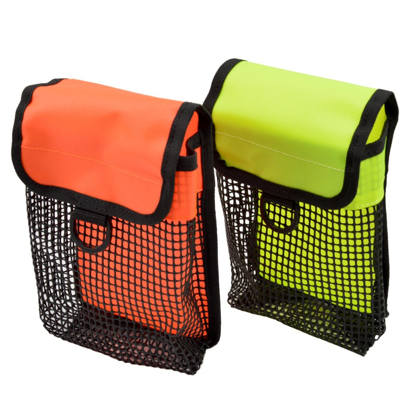 Diving Reel Mesh Storage Holder Bag Dive BCD Surface Marker Buoy Pouch  With Snap Water Diving Carrier Equipment