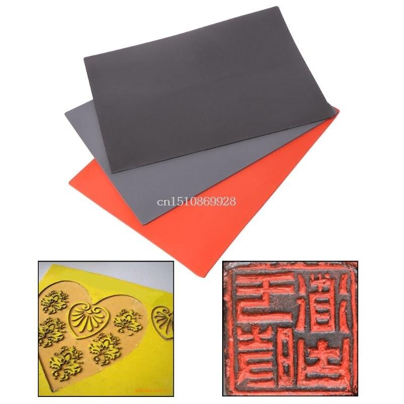 1 قطعة ألواح من المطاط الليزر النفط كشط المقاومة دقيقة الطباعة النقش السدادة ختم A4 حجم 297x211x2.3 مللي متر 448A