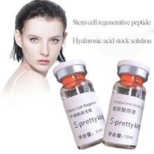 Hyaluronik asit sıvı ve kök hücre rejenere peptid cilt gençleştirme Anti aging ve yüz vücut dolum