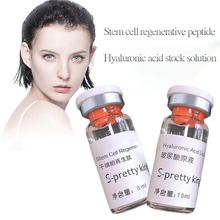 Peptide regenerado líquido do ácido hialurônico e da pilha estaminal para o rejuvenescimento da pele anti envelhecimento e enchimento do corpo da cara