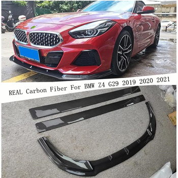 For BMW Z4 G29 2019 2020 2021 REAL Carbon Fiber Front Bumper Diffuser Lip Spoiler Side Body Skirt High Quality Car Accessories image