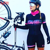 Kafitt triathlon terno conjuntos de camisa de ciclismo feminino uniforme manga longa skinsuit macacão macaquinho ciclismo feminino 9