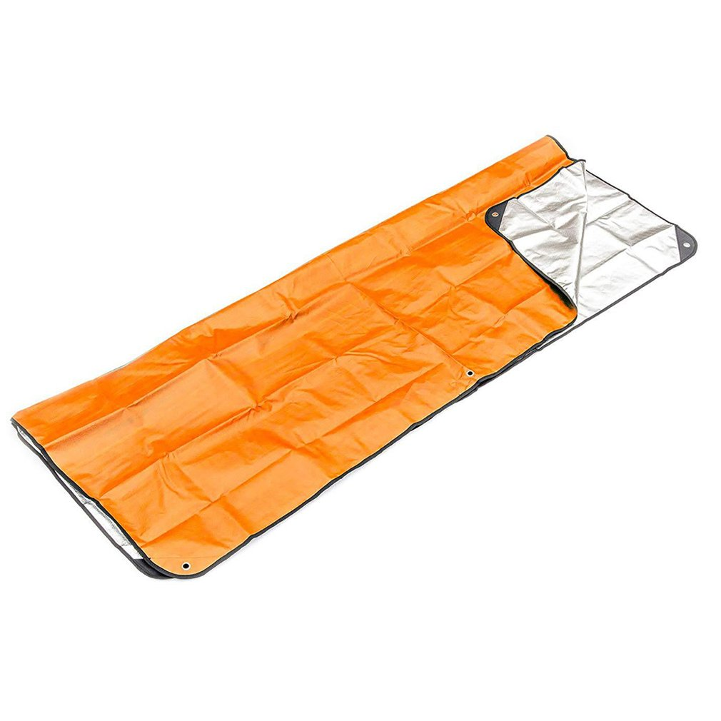 Outdoor First Aid Emergency Blanket Emergency Sleeping Bag Insulation Reflective Orange Aluminized Film
