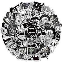 10/50/100pcs Black White Gothic Style Horror Sticker Waterproof Decal for DIY Laptop Skateboard Phone Car Sticker