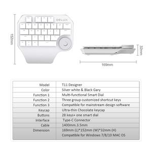 Image 5 - Delux T11 Designer Keyboard with Smart Dial 3 Group Customizable Keys Keypad Compatibility for Wacom Windows Mac Design Softwar
