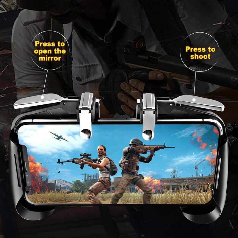 Pubg携帯ゲームコントローラ送料火災電話L1 R1 ゲームパッドジョイスティックxiaomi iphoneサムスンios androidのゲームグリップジョイパッド