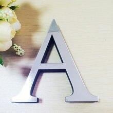 Letras acrílica, adesivos de parede 3d diy, espelho de acrílico, decalques de decoração para casa, arte de parede, entrega gratuita d5