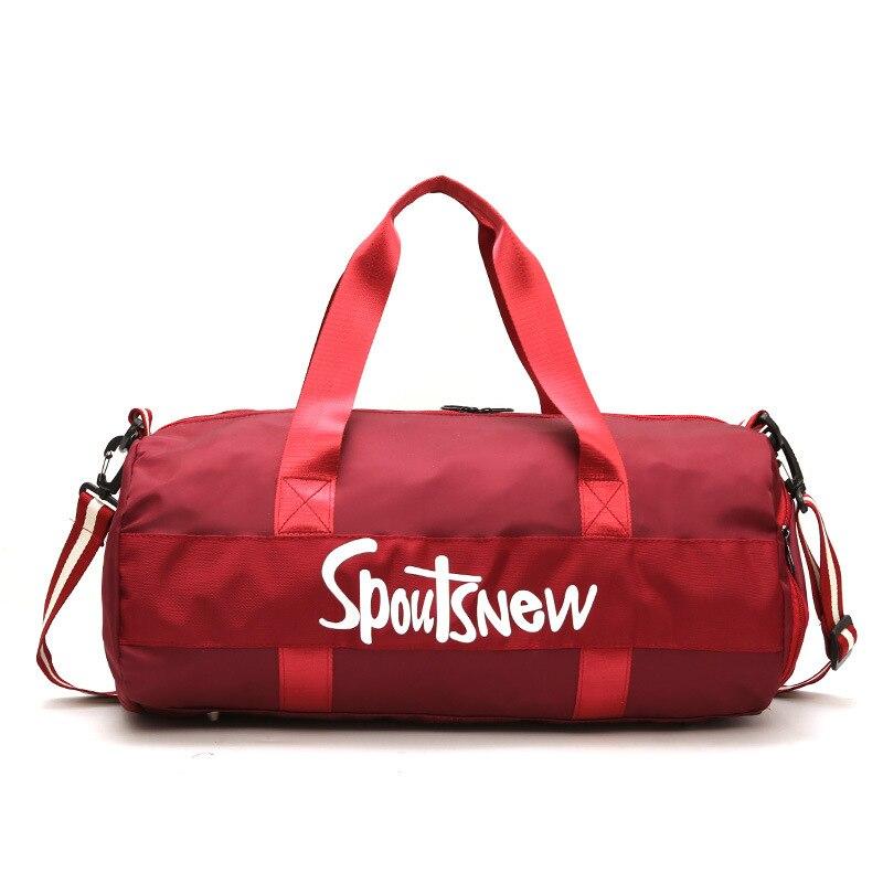 Спортивная сумка для тренировок, мужские дорожные спортивные сумки для фитнеса, сумка через плечо, женское отделение для сухого и мокрого
