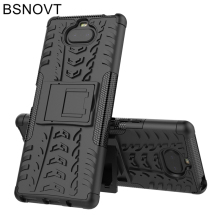 For Sony Xperia 20 Case Silicone Hard Armor Phone Holder Anti-knock Bumper Cover BSNOVT