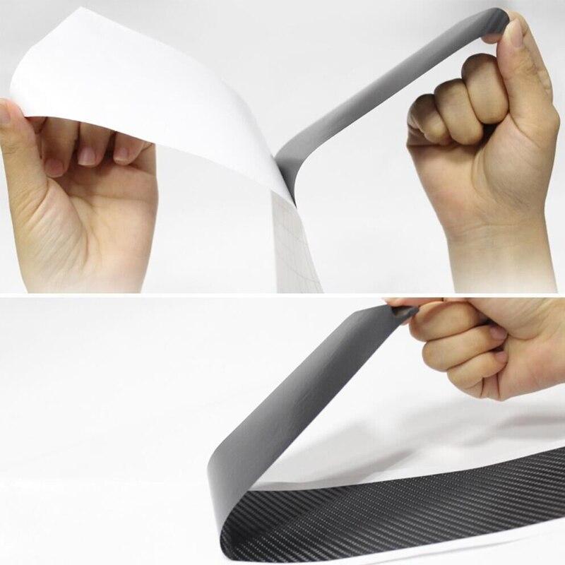 4Pcs Carbon Fiber Car Door Sill Scuff Anti Scratch Sticker for Volkswagen VW Polo 2010-2020 Accessories-2