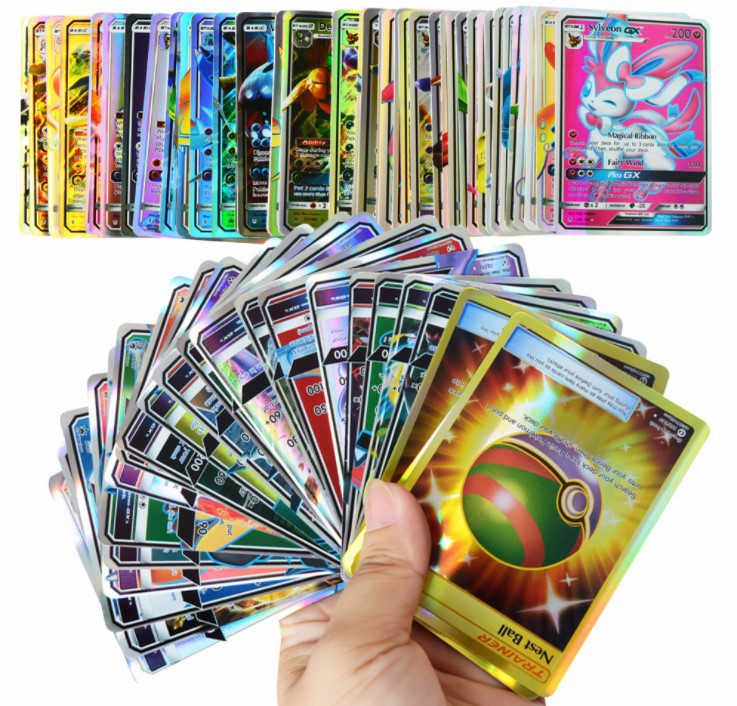 120Pcs (11Trainer + 109Gx) Game Collection 6.3*8.8CM Cards Kids Toys Great Gift