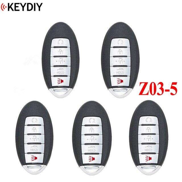 5PCS/LOT,KEYDIY Universal Smart Key ZB03 5 for KD X2 Car Key Remote Replacement Fit More than 2000 Models
