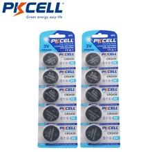 10 X PKCELL 3 V ليثيوم بطارية CR2430 CR 2430 DL2430 5011LC بطاريات
