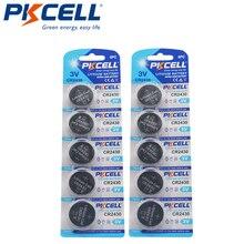 Batería de litio PKCELL 3V CR2430 CR 2430 DL2430 5011LC, para reloj electrónico, 10 Uds.