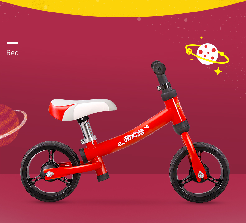 H65a88d7bf49b452b856a6f9e0020bd67q Montasen Children Push Bike for 1.5- 3 Year Old Kids High Carbon Frame Balance Cycle for Boy Girls to Walk Mini Push Bicycle