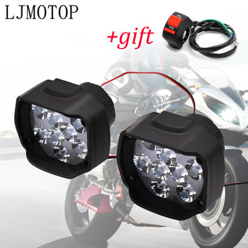 Motorcycle Headlight 6/9LED 10W Light Motorbike Fog Lamp Scooters Spotlight For KTM Duke 200 390 125 RC 200 390 125 690 Duke RC8 image