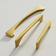 Pvd Gold/ Kitchen Door Handles And Knobs Solid Brass Cupboard Cabinet Pull Furniture Handle