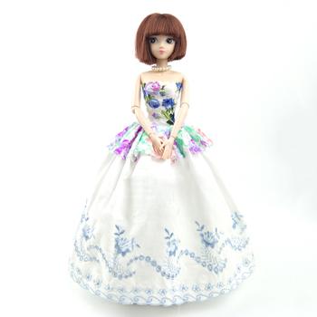 Biały kwiatowy sukienka dla Barbie stroje lalek 1 6 sukienka na przyjęcia sukienka dla Barbie ubrania dla lalek Barbie 1 6 akcesoria dla lalek zabawki dla dzieci tanie i dobre opinie Apatsuki 25-36m 4-6y 7-12y 12 + y 18 + Tkanina CN (pochodzenie) dress for barbie doll Dziewczyny Moda Sukienka w stylu zachodnim