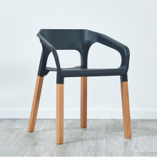 Nordic Solid Wood Plastic Armchair Restaurant for Dining Chair Living Room Cafe Home Living Room Study Solid Wood Dining Chairs