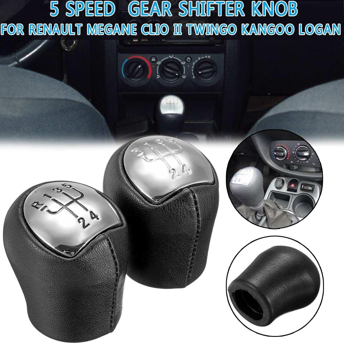 Manual Gear Shift Knob 5 Speed Car Gear Shifter Knob Stick Head