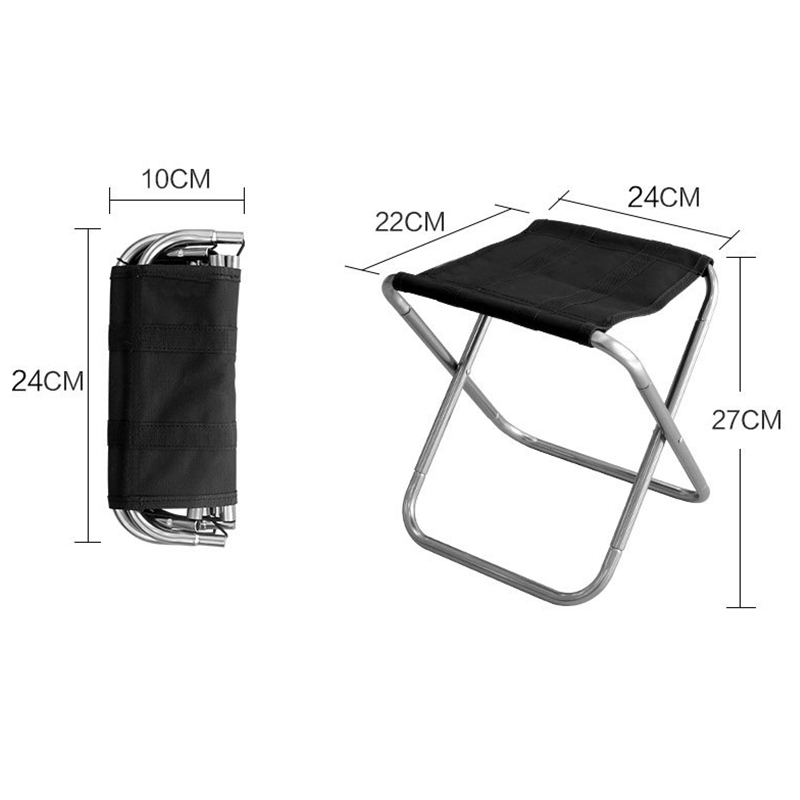 Outdoor Foldable Fishing Chair Ultra Light Weight Portable Folding Camping Aluminum Alloy Picnic Fishing Chair With Bag