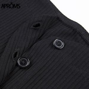 Image 5 - Aproms Off Shoulder Cropped Tank Topsผู้หญิงเซ็กซี่RibbedถักCrop TopสุภาพสตรีStreetwear Tees Slim Camis 2020