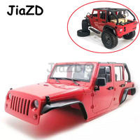 Unassembled 12.3inch 313mm Wheelbase Body Car Shell for 1/10 RC 5 door convertible of Jeep Wrangler Axial SCX10 & SCX10 II 90046