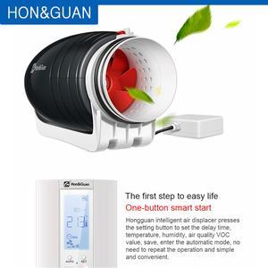Image 4 - 6 Ultra Silent Ventilator Smart Inline Duct Fan 220V with Humidistat Timer Bathroom Ventilation Fans with Sensor Controller