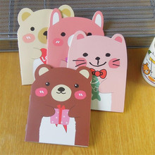 1pcs/lot Kawaii Bear Design Small Animal Notebook DIY Mini Travel Diary School Offices Supplies Sketchbook