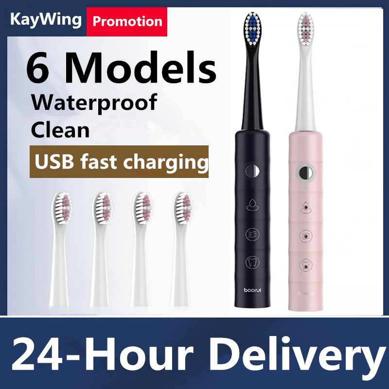Sonic Electric Toothbrush Adult Ultrasonic Automatic Toothbrush USB Rechargeable Waterproof Tooth Brush for adult image