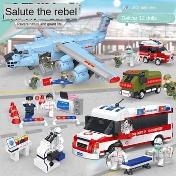 Technic City Ambulance Police Hospital Figures Moc Building Block Military Model Car Army Creator Children Brick Toy Creator Set недорого