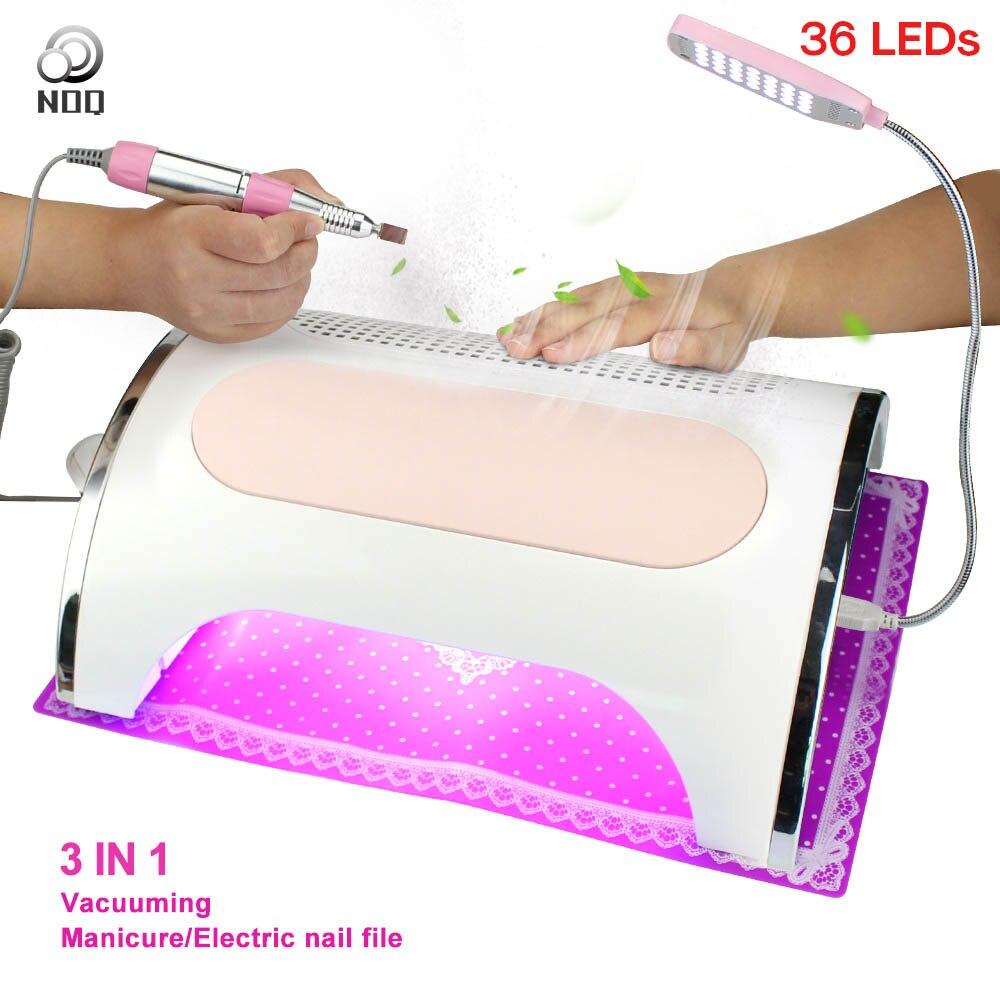 NOQ пылесборник для дрели 54 Вт профессиональный пылесос для маникюра 36 шт. светодиодный s UV светодиодный светильник для ногтей сушилка салонн