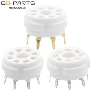 GD-PARTS 1PC 8pin Octal Tube Socket Base For EL34 KT88 KT66 6550 KT120 274B 5AR4 6SN7 6V6 6L6 6CA7 5881 PCB Mount(China)