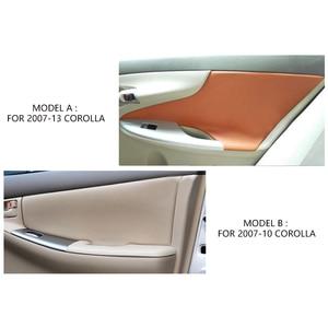 Image 3 - สำหรับToyota Corolla 2007 2008 2009 2010 2011 2012 2013 2 ชิ้น/เซ็ตประตูรถแผงแขนหนังไมโครไฟเบอร์