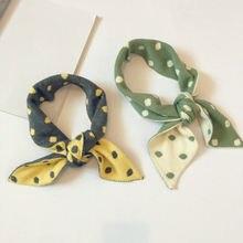 Хлопковый детский шарф с принтом в горошек, Модный корейский стиль, кольцо, шарф для мальчиков и девочек 12