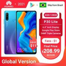 Em estoque versão global huawei p30 lite 4gb 128gb smartphone 6.15 polegada 2312x1080 kirin 710 octa núcleo android 9.0 celular