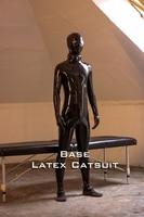 (FErubber 01) 100% натуральный каучук латекс унисекс переодевание комбинезон полный тело Zentai костюм SM Фетиш костюмы